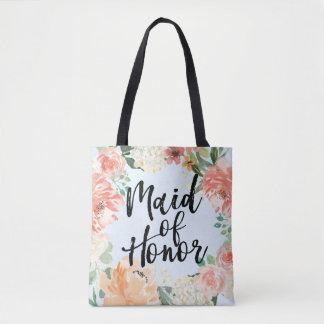 Tote Bag Domestique d'aquarelle de mariage de ressort