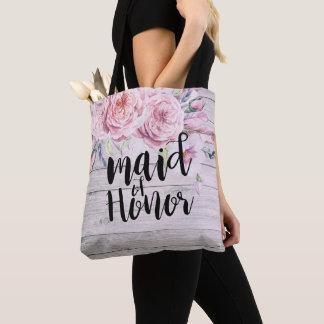 Tote Bag Domestique de mariage de bois floral d'aquarelle