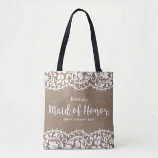 Tote Bag Domestique du mariage fait sur commande de toile