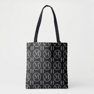 Tote Bag Double noir décoré d'un monogramme d'OFC