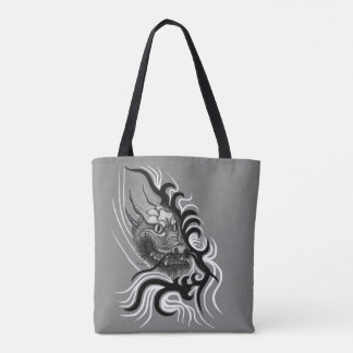 Tote Bag Dragon de la Chine dans Tattoostyle
