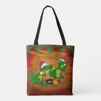 Tote Bag Dragons - Joyeux Noël ! Aujourd'hui je ferai cuire