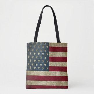 Tote Bag Drapeau américain grunge tout plus de - imprimez