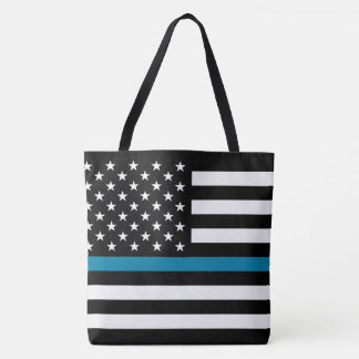 Tote Bag Drapeau américain mince de Blue Line