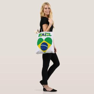 Tote Bag Drapeau brésilien de coeur