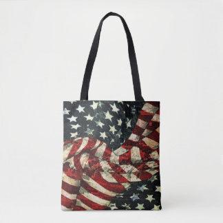 Tote Bag Drapeau-Camouflage américain par Shirley Taylor