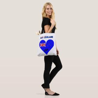Tote Bag Drapeau de coeur de la Nouvelle Zélande