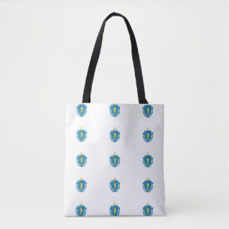 Tote Bag Drapeau du MASSACHUSETTS -