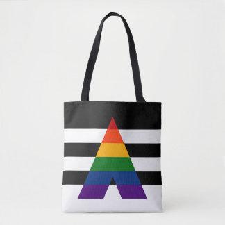 Tote Bag Drapeau solide de fierté d'allié de LGBT