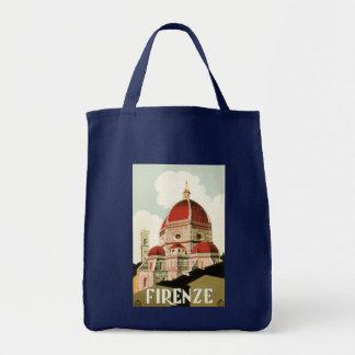 Tote Bag Duomo vintage d'église de Florence Firenze Italie