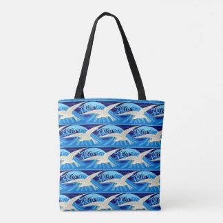 Tote Bag Eau de mer d'oiseau de mouettes d'océan de plage