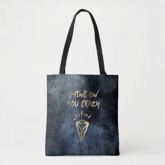Tote Bag Éclat sur vous typographie folle d'or de citation