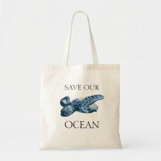 Tote Bag Économies de tortue de mer notre océan