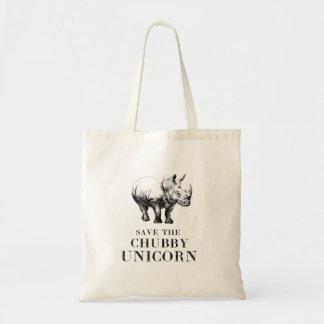 Tote Bag Économies hilares le rhinocéros potelé fourre-tout
