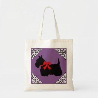 Tote Bag Écossais tresse noire/blanche, cletic de Terrier,