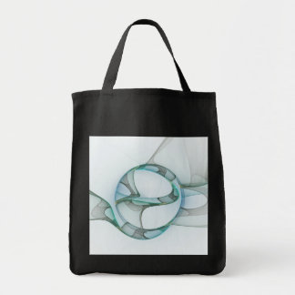 Tote Bag Élégance bleue d'abrégé sur gris de turquoise