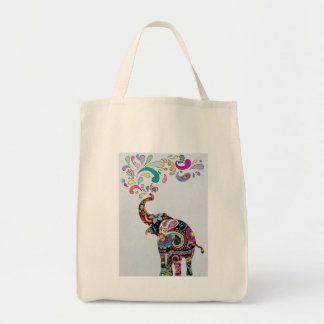 Tote Bag Éléphant de mandala