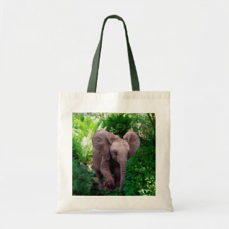 Tote Bag Éléphant et jungle