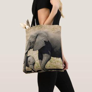 Tote Bag Éléphant et mère de bébé