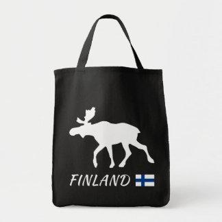 Tote Bag Elk de Finlande and drapeau