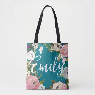 Tote Bag Emily a balayé le nom floral de coutume de noce