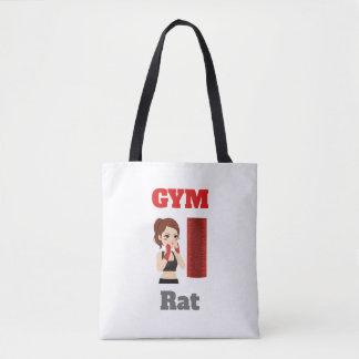 Tote Bag Emoji de rat de gymnase