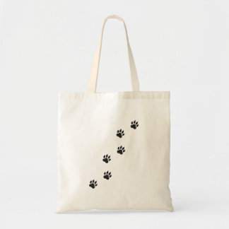 Tote Bag Empreintes de pattes d'un chat