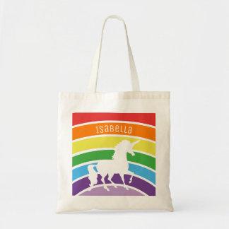 Tote Bag Enfants personnalisés par licorne blanche de motif