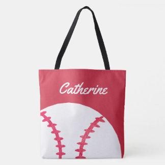 Tote Bag Enfants personnalisés par rouge de base-ball ou de