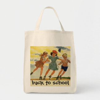 Tote Bag Enfants vintages, patinage de rouleau d'amusement