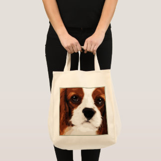 Tote Bag épagneul cavalier brun moderne du Roi Charles