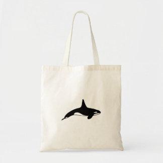 Tote Bag Épaulard en noir et blanc