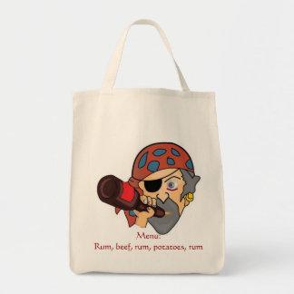 Tote Bag Épicerie Fourre-tout de pirate