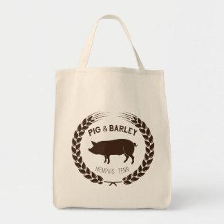 Tote Bag Épicerie Fourre-tout de porc et d'orge