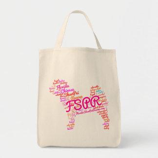 Tote Bag Épicerie Fourre-tout - nuage de FSPR de mot