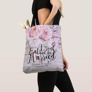 Tote Bag Épouser le bois rustique floral d'aquarelle chic