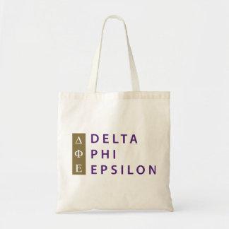 Tote Bag Epsilon de phi de delta empilé