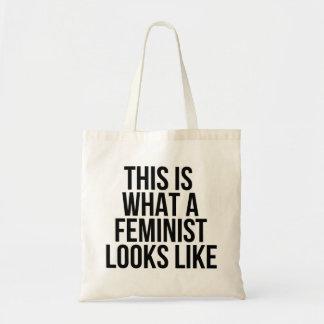 Tote Bag Est c'à ce qu'un féministe ressemble - le