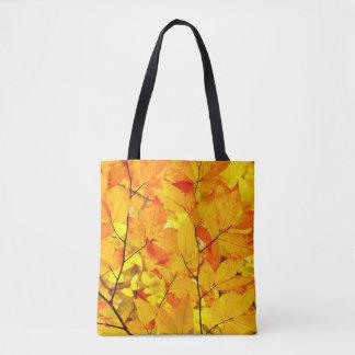 Tote Bag Été indien de la Saint-Martin, feuille jaune