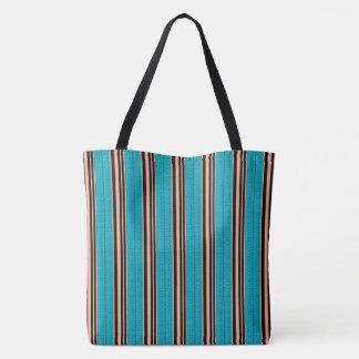 Tote Bag Été-Maison-Bleu-Orange-Emballage-Épaule-Sac