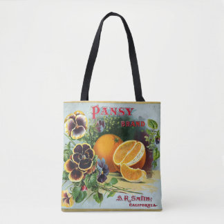 Tote Bag Étiquette orange de caisse de marque de pensée
