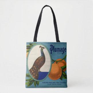 Tote Bag Étiquette orange de caisse de marque de plumage