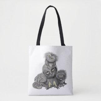 Tote Bag Famille de hibou