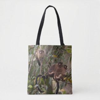 Tote Bag Famille des singes d'ouistiti