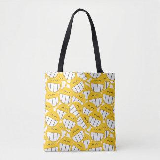 Tote Bag Famille jaune