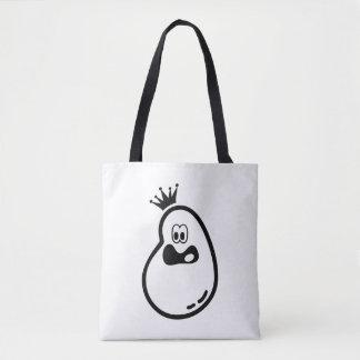 Tote Bag Fantôme mignon de Halloween avec la couronne