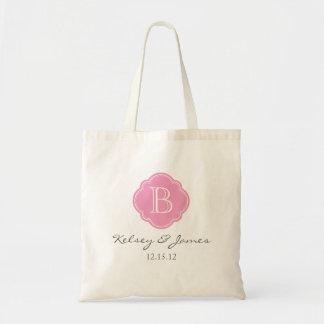 Tote Bag Faveur faite sur commande rose Fourre-tout de mari
