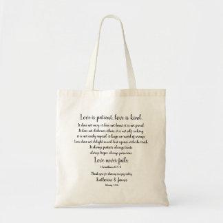 Tote Bag Faveur/Merci de mariage ; Corinthiens,