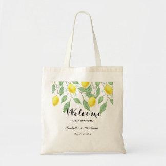 Tote Bag Faveur moderne d'été de citron d'aquarelle de Boho