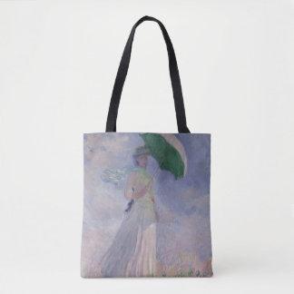 Tote Bag Femme de Claude Monet   avec un parasol tourné à